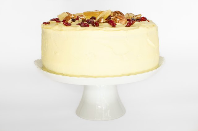 Hummingbird Cake on stand