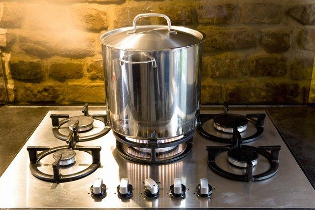 Pan on stove