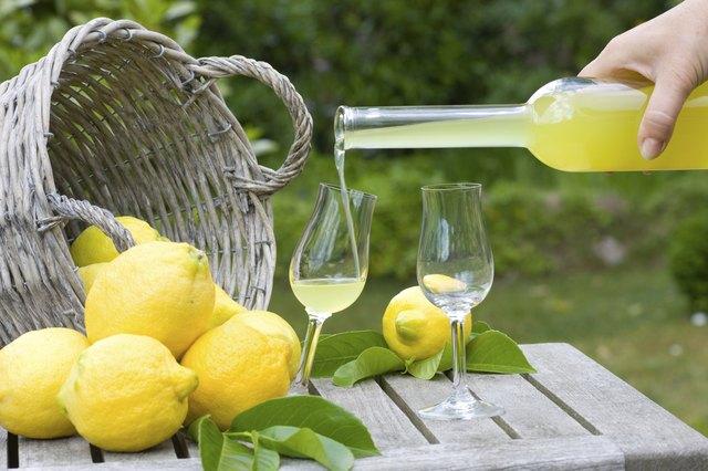 Limoncello and lemons
