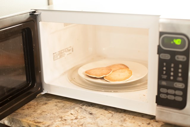 Warm Leftover Pancakes In The Microwave By Placing One On A Plate And Heating It High For 15 To 20 Seconds If Warming Small Stack Of