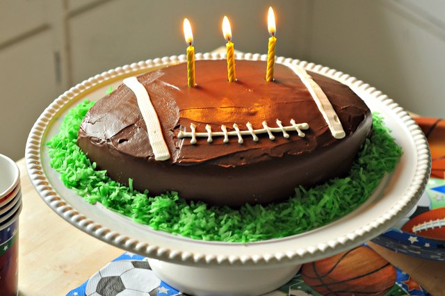 How To Make A Football Shaped Cake Leaftv