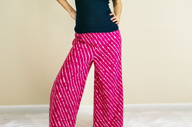 her own pattern and make her own palazzo pants alternatively most large clothing pattern manufacturers offer patterns for palazzo pants
