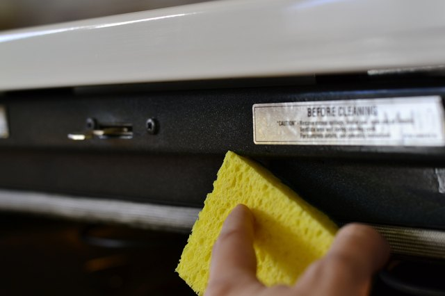 How to clean a whirlpool self cleaning oven leaftv clean the frame around the oven door and oven front the front facing part of the oven that the door touches when closed with mild dish detergent and a planetlyrics Images