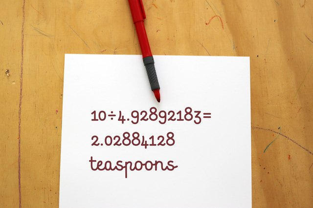 This conversion factor is the actual metric volume of a teaspoon. If you  need to convert 10 mL to teaspoons, ...
