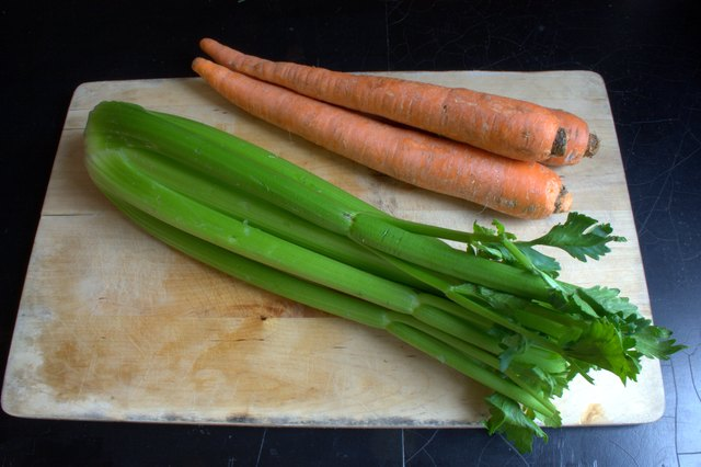 the small amount of time it takes to prepare your celery and carrots for freezing will be well worth it when you have fresh chopped vegetables ready - How To Preserve Celery
