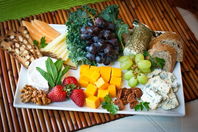 If you do not have any extra room create another platter next to the cheese and fruit tray. & How to Arrange a Fruit \u0026 Cheese Platter   LEAFtv