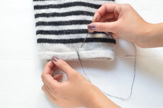 Stitch the layers together
