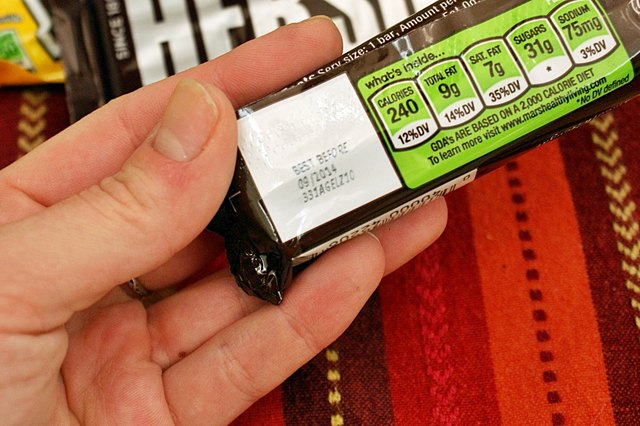 finding the expiration date of a candy bar