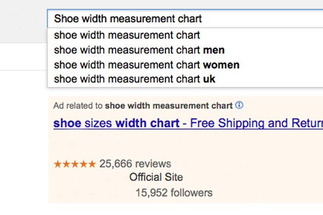 How to check to see if your feet are wide or narrow leaftv insert shoe width measurement chart into your favorite search engine examine the results click on the link that indicates it contains a measurement publicscrutiny Gallery